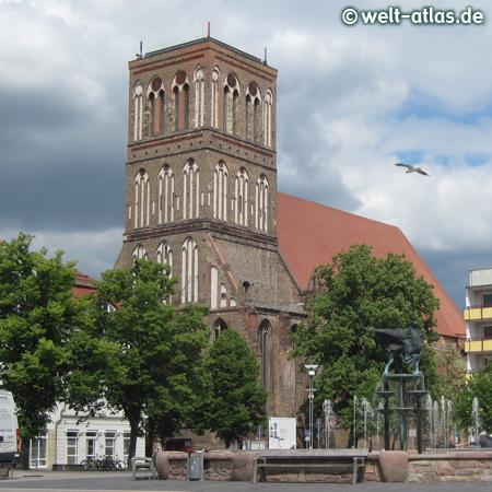 Die Nikolaikirche in der Hansestadt Anklam wird schrittweise wieder aufgebaut