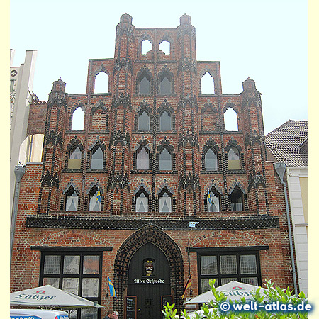 """The historic gothic style brick house """"Alter Schwede"""" in Wismar"""