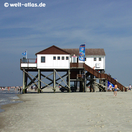 foto sommertag in st peter ording am strand welt. Black Bedroom Furniture Sets. Home Design Ideas