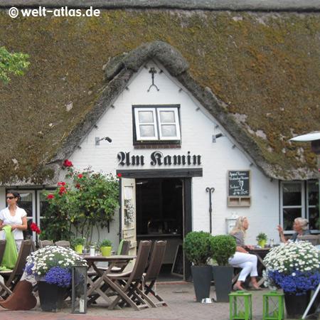 """Gemütliches Restaurant """"Am Kamin"""" in St. Peter-Ording, Dorf auf Eiderstedt"""