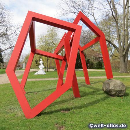 """The sculpture park in the """"Kunstwerk Carlshütte"""" on the site of the former iron foundry Carlshütte"""