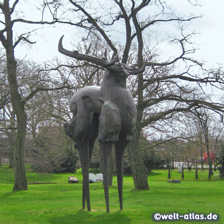 Sculpture by the chinese sculptor ZengChenggang in the Sculpture Park, Büdelsdorf