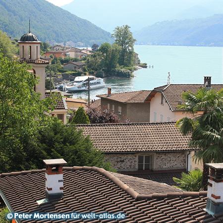 Sommer am Lago di Lugano zwischen Brusino und Finate