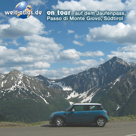 welt-atlas ON TOUR with Mini, Jaufenpass, Passo di Monte Giovo in South Tyrol