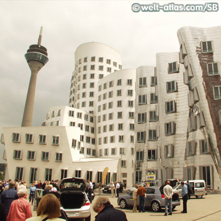 Frank Gehry Buildings at the Media Harbour, Dusseldorf