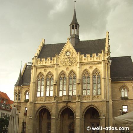 Rathaus in Erfurt, Landeshauptstadt des Freistaates Thüringen