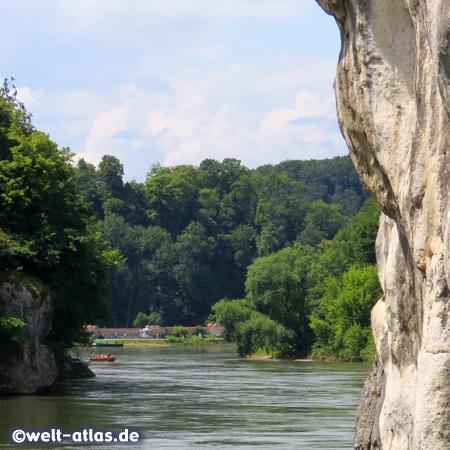Am Donaudurchbruch (Weltenburger Enge) kurz vor dem Anleger Kloster Weltenburg