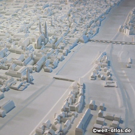 Das 3D-Stadtmodell im Besucherzentrum Welterbe Regensburg