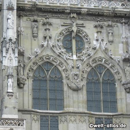 Regensburg, Detail der Domfassade
