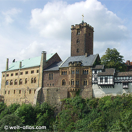 Die Wartburg bei Eisenach, Lutherstube, Weltkulturerbe der UNESCO