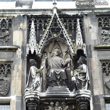 Fassadendetail am Aachener Dom,UNESCO-Welterbe