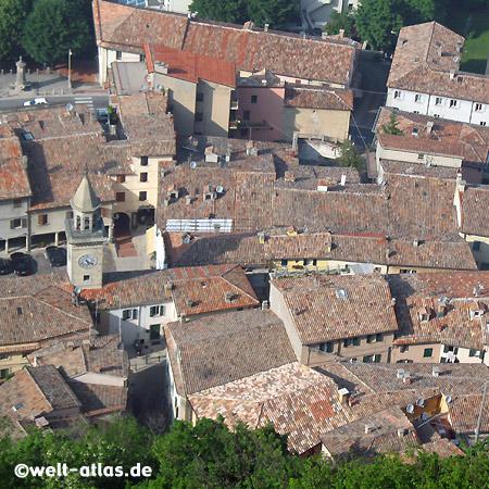 Blick über die Dächer von San Marino