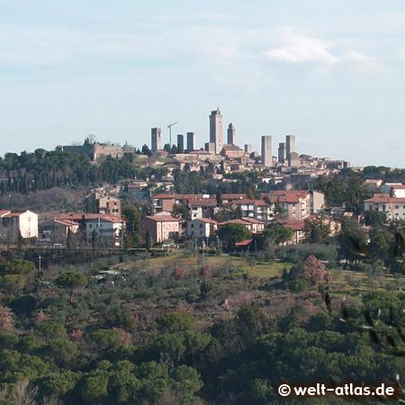Die Geschlechtertürme von San Gimignano, Weltkulturerbe der UNESCO in der Toskana