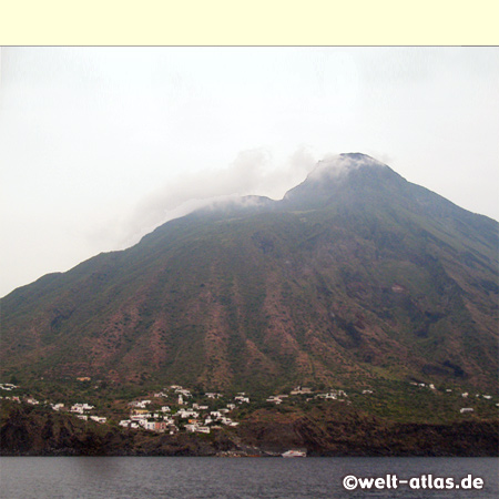 The volcano Mt. Stromboli with Ginostra, UNESCO World Heritage Site