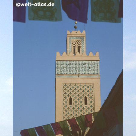 Minarett der Koutoubia-Moschee in Marrakesch