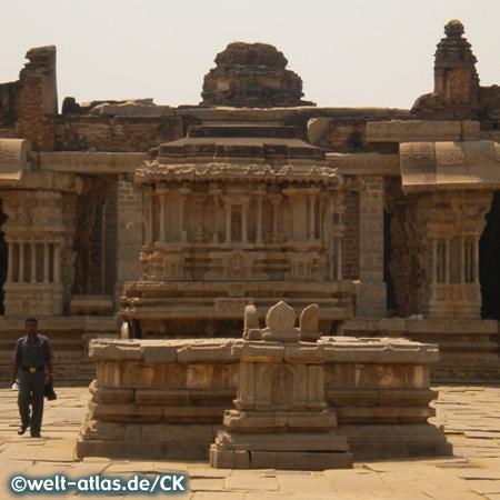 Platz am Vittala Tempel, UNESCO-Weltkulturerbe Hampi