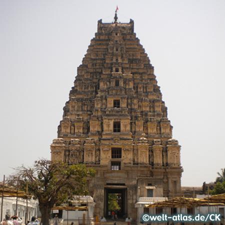 Virupaksha Tempel, Haupttempel in Hampi, UNESCO-Weltkulturerbe