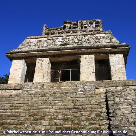 Der Sonnentempel in den Mayaruinen von Palenque – UNESCO-Weltkulturerbe – Foto:©fahrbelwesen.de