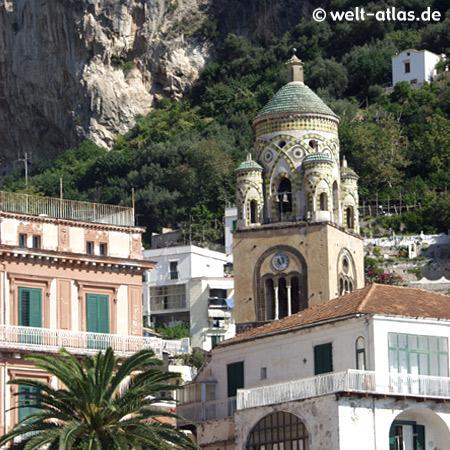 Amalfi, Turmspitze des Domes