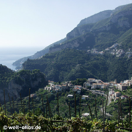 Berge bei Ravello, Amalfitana