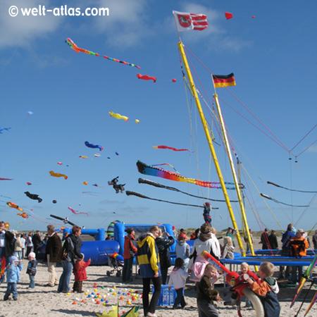 Drachenfestival, beach St. Peter-Ording