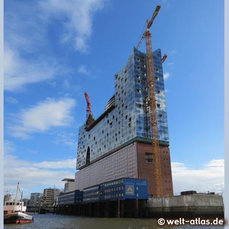 Elbphilharmonie am Kaiserhöft, Baustelle in der HafenCity Hamburg