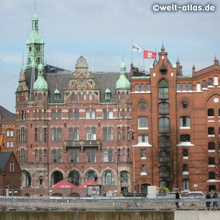 Bei St. Annen in der Speicherstadt, der weltgröβte zusammenhängende Lagerhauskomplex, Backsteingotik HafenCity