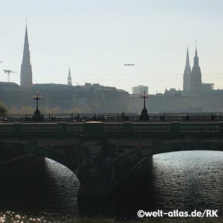 """Lombardsbrücke"", Alster Lake,Hamburg"