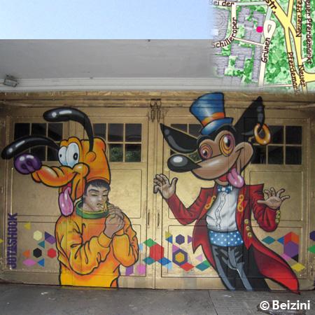 Hamburg, Street Art vom venezolanischen Künstler Jotashock  bei den Garagen Sauerberg, VELADA SANTA LUCÍA REMIX 2013