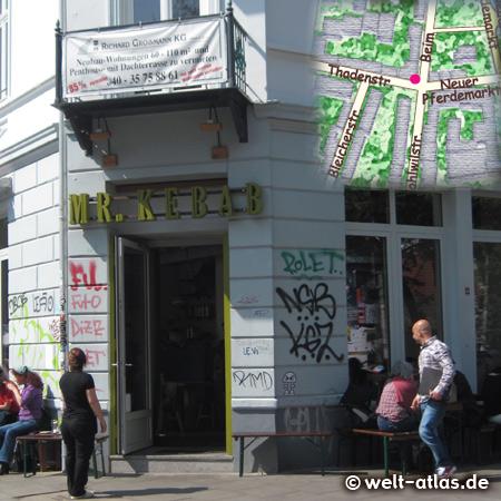 Popular Turkish restaurant Mr. Kebab, Neuer Pferdemarkt, Hamburghttp://mrkebab.hamburg/