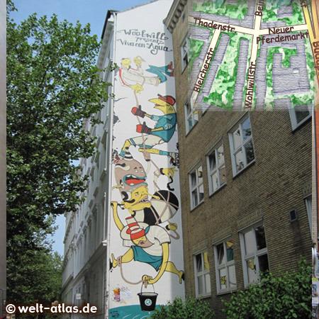 "former mural ""Viva Con Agua"" in Hamburg"