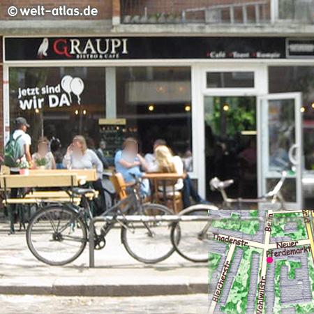 Graupi Bistro & Café in der Wohlwillstr. 54https://www.facebook.com/graupihamburg/ St. Pauli