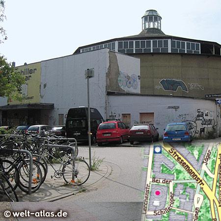Die Schilleroper, ehemaliges Theater und Zirkusgebäude, heute leerstehend, unter Denkmalschutz