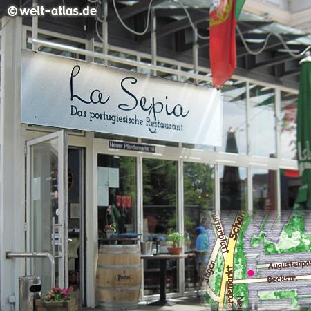 Das La Sepia ist ein beliebtes,traditionsreiches portugiesisches Lokal am Neuen Perdemarkt http://la-sepia.de/