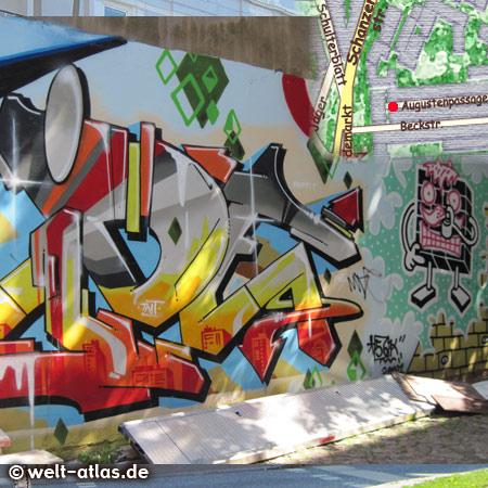 Graffiti in der Augustenpassage