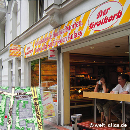 The Bread Basket baker and pastry in the Wohlwillstraße also provides birthday & wedding cakes