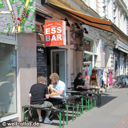 Essbar, Bistro Schanz-Elysee, Schanzenstr. 3, Crocques and more