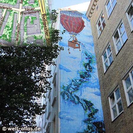 """Trinkwasser für die Dritte Welt """"Viva Con Agua"""" neue Wandmalerei in der Wohlwillstr."""