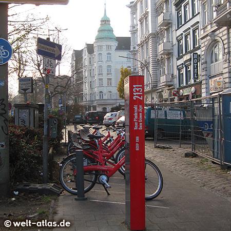 StadtRAD (city bike), Beim Grünen Jäger - north of Stresemannstr