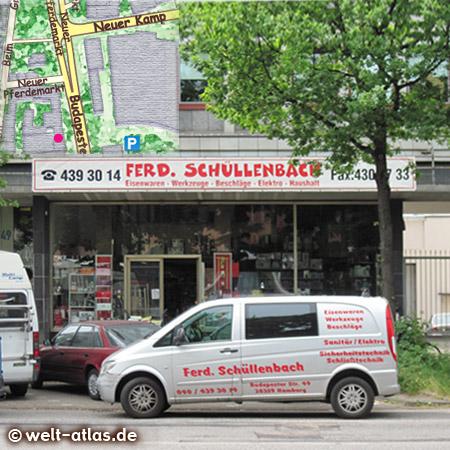 Schüllenbach ist und bleibt eine Institution, Groß - und Einzelhandel für Eisenwaren, Werkzeuge usw. hier gibt es zB. Schrauben noch in Kleinstmengen