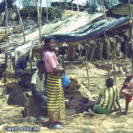 kleiner Marktstand in Kenia