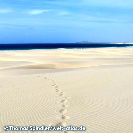 Traumstrand, Meer und Dünen am Praia de Chaves auf Boa Vista