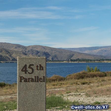 auf dem 45zigsten Breitengrad in Neuseeland beim Dunstansee