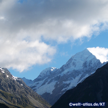 Mount Cook (Aoraki) im Mount Cook National Park