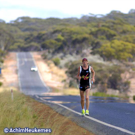 Achim Heukemes, a German Ultra Runner on the road in Australia