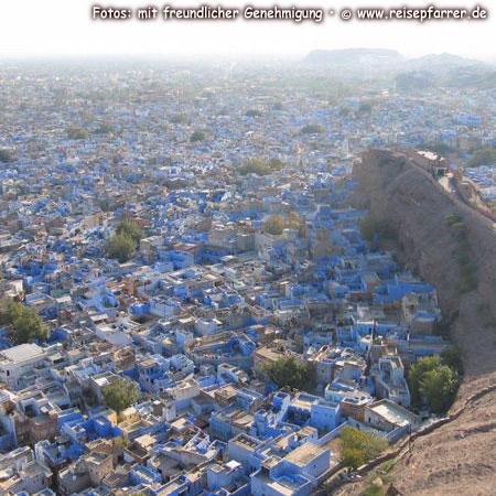 "Blick auf Jodhpur, die ""Blaue Stadt""Rajasthan IndienFoto:© www.reisepfarrer.de"