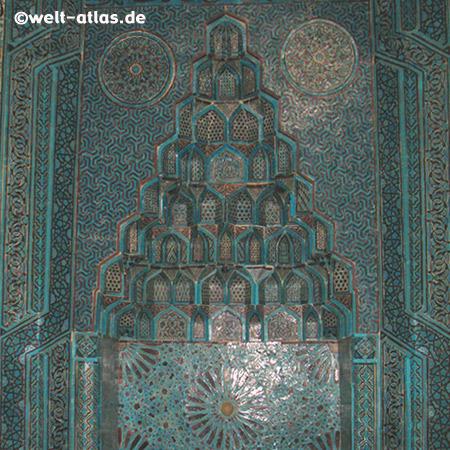 Mihrab inside the Esrefoglu Mosque, Beyşehir