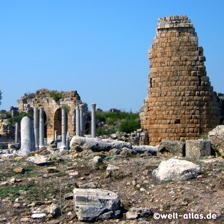 Ruins of the ancient city of Perge