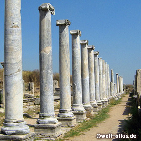 Colonaded Square in the ancient city of Perge