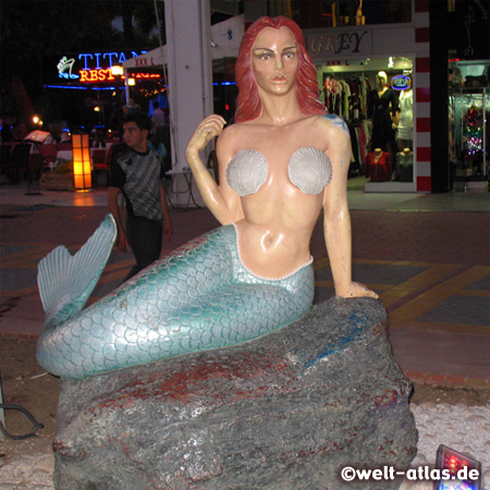 Statue of a Mermaid, Shopping Road of Kemer